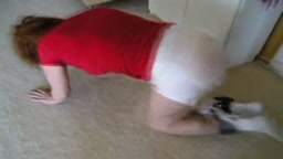 Messy Diaper Forced Crawling