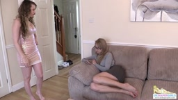 Brook gives Chloe a diaper spanking for not doing homework