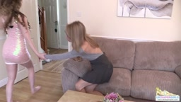 Chloe gets a spanking for not doing homework